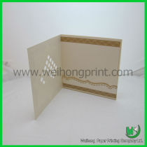 OEM high quality paper wedding card for promotion