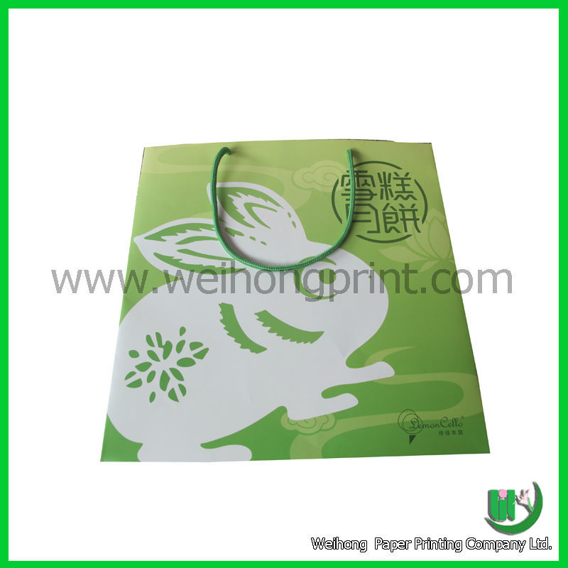 foldable green moon cake bag