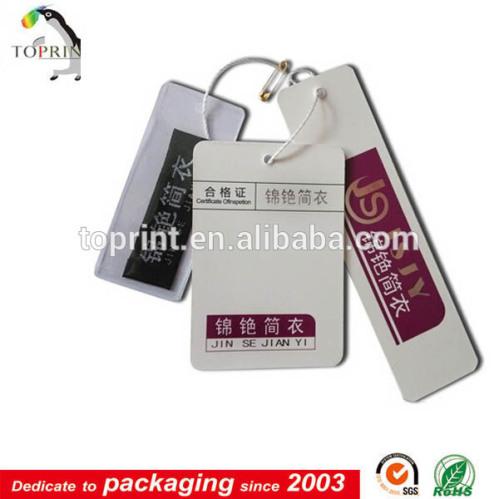 Custom hang tag printing clothing tag wholesale paper for T shirt tags wholesale