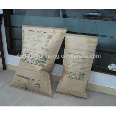 2014 Custom Printed Kraft Paper Container Air Pillow Bags Factory China