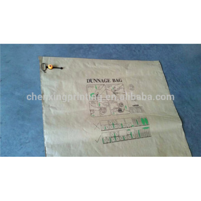China Custom Printed Kraft Paper Dunnage Inflator Air Bag for Container
