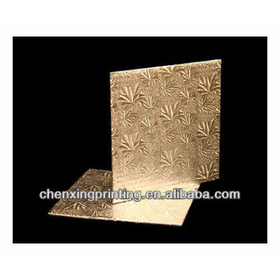 8 inch Cake Board, Square Silver Foil Single Wall Corrugated