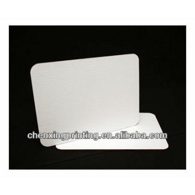 Quarter Sheet Cake Board, Coated White Single Wall Corrugated