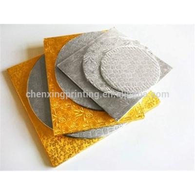 Bespoke Corrugated Silver Foil Cake boards Wholesale
