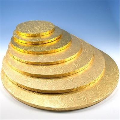 Bespoke Corrugated Gold Round Cake board Paper Wholesale
