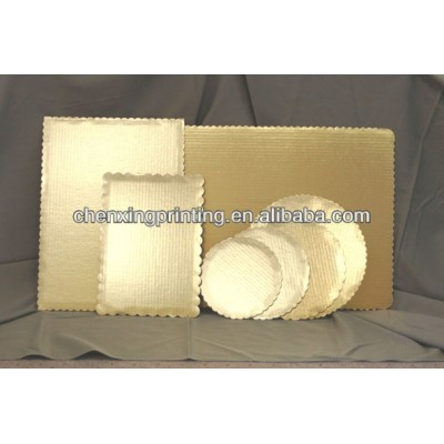 Golden rectangular Paper Cake board with different shapes