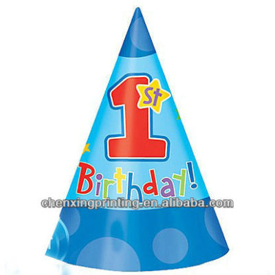 1st Birthday Boy Party Hats