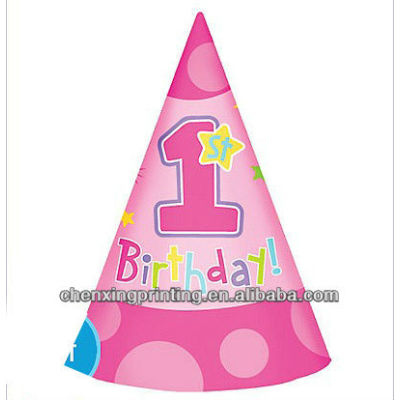 Hug & Stitches Girl's 1st Birthday Party Hats