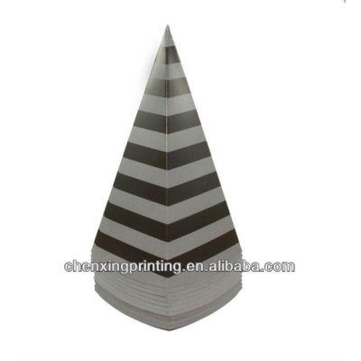 Black Stripe Popcorn Cones