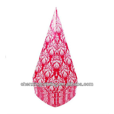Pink Damask Popcorn Cones