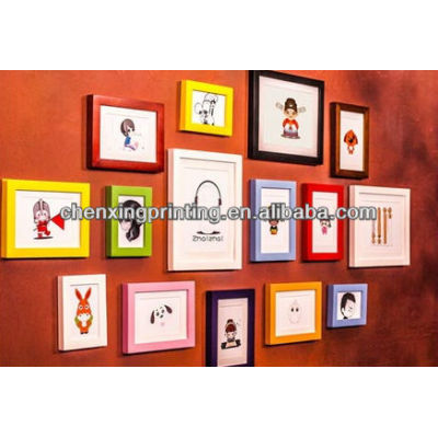 Customized Newest paper photo frame 4x6 5x7 8x10 a4
