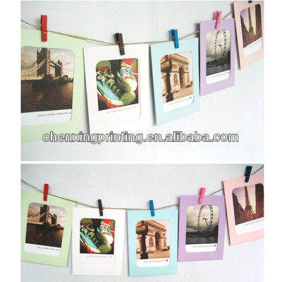 6 Inches Colorful Washing Line Hanging Gallery on Line Square Paper Photo Frame