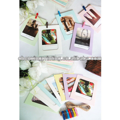 6'' Colorful Washing Line Hanging Gallery on Line Square Paper Photo Frame