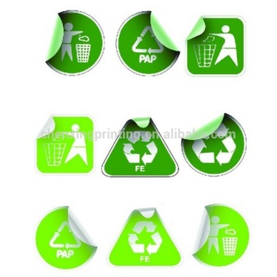 Recycle Insignia Sticker - Environmental Dye Cut Decal