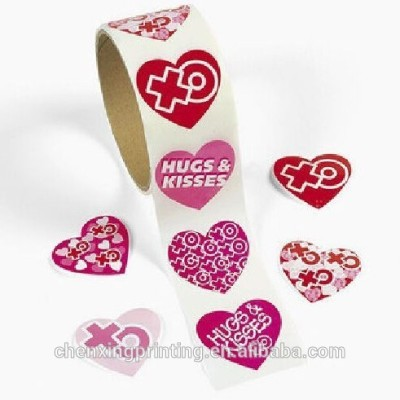Hugs And Kisses paper Stickers
