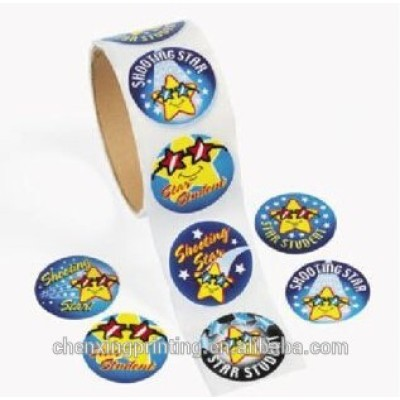Star Student Roll Stickers