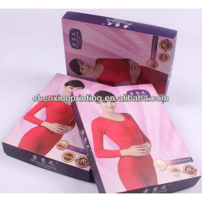 Hot Stamp Underwear Paper Box,packaging paper box