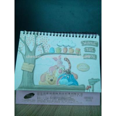 Creative Cartoon Custom Printed Desk Calendar with Hot Stamping 2015