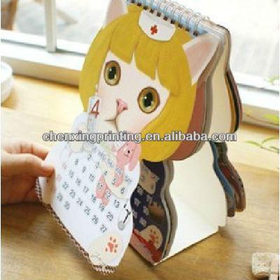 Cartoon Customized Creative Paper Desk Calendar 2014