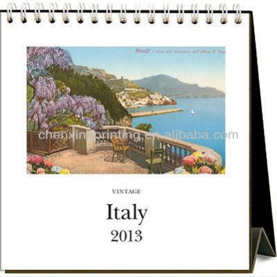 Vintage Italy 2013 Easel Desk Calendar