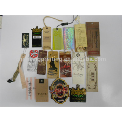 Customized Paper Hang Tags for Clothing Shoes with String