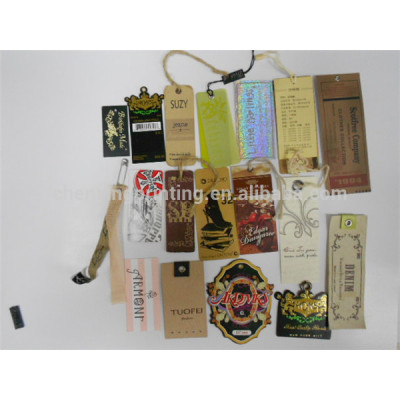Customized Design Paper Hang Tag for Clothing with String