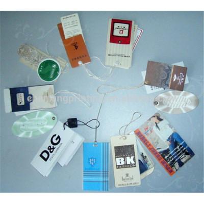 Custom Paper Clothing Tags with String