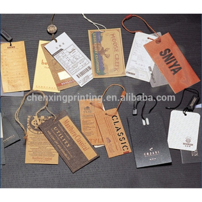 Custom Clothing Tags with String