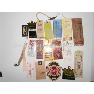 Customized Design Paper Hang Tags for Clothing with String Factory China