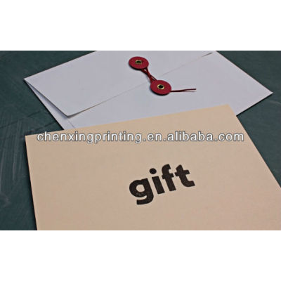 Bespoke recyclable brown kraft paper gift envelope with factory price