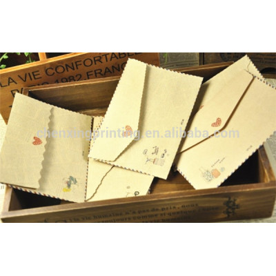 Hot Selling Cheap Gift Greeting Card Envelopes with Tear Wholesale Price