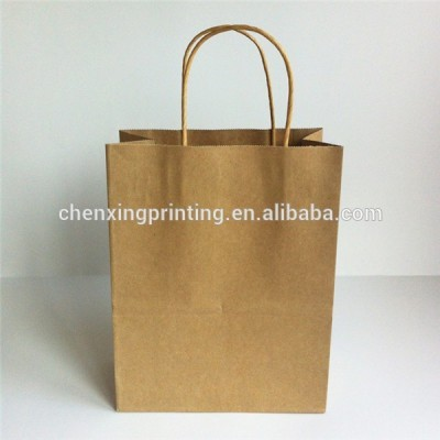 customized practical popular clean paper bag with handles