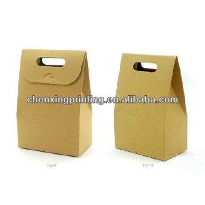 Bespoke brown kraft paper bags food packaging paper bags wholesale with die-cutting handles