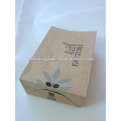 Biodegradable Brown Square Paper Bag with Printing Wholesale