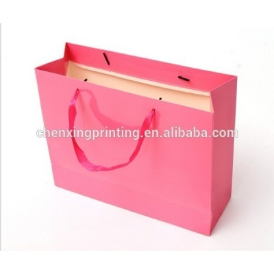 biodegradable custom kraft paper marchandise bag with handles made in shenzhen