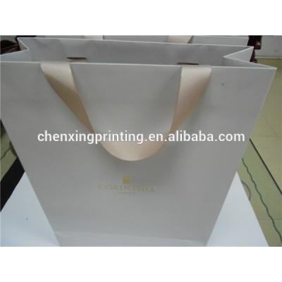 fashion top grade hot stamping paper marchandise bag