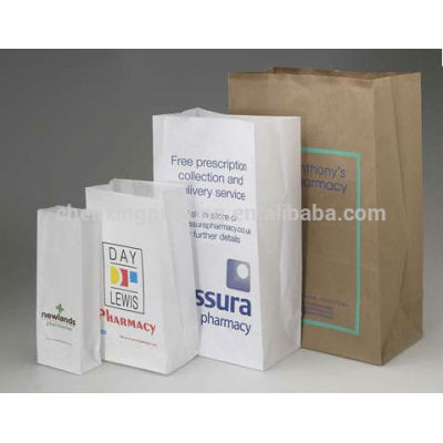 Customized Biodegradable pharmacy paper bag