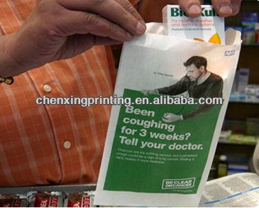 Popular Printed FDA Kraft Pharmacy Bag