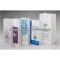 high quality 100% recycle FDA pharmacy paper bag