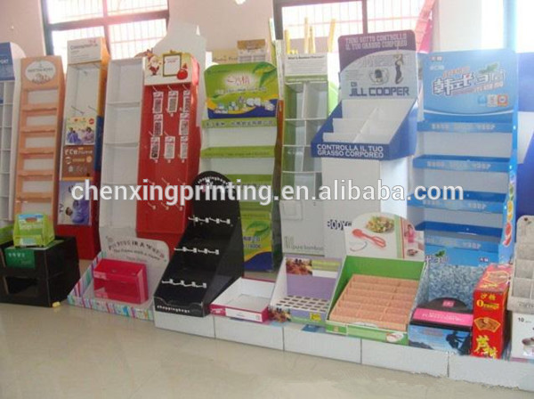 Counter Cardboard Retail Product Perforated Display Boxes