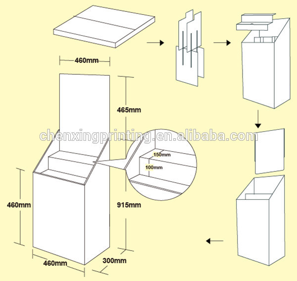 E-Flute Corrugated Paper Display Boxes with Printing