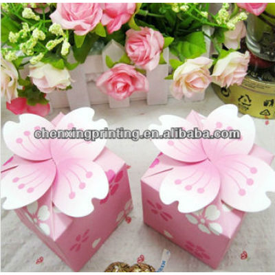 Creative Kraft paper box for wedding favors accept cusutomized