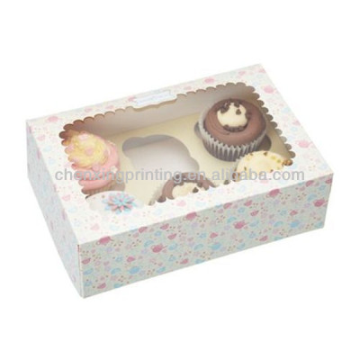 Customizable Paper CupCake Boxes Holds 6 Cakes