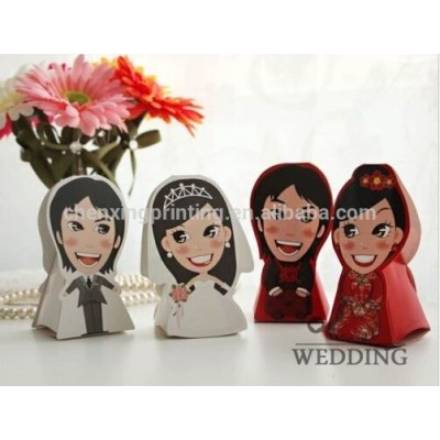 3D bride and groom Wedding Favor Boxes gift box candy box