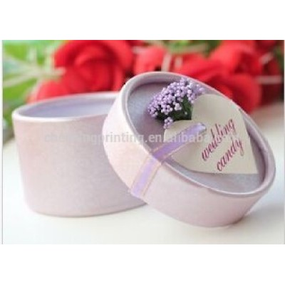 Cylinder Wedding Favor Candy Boxes Gift Box