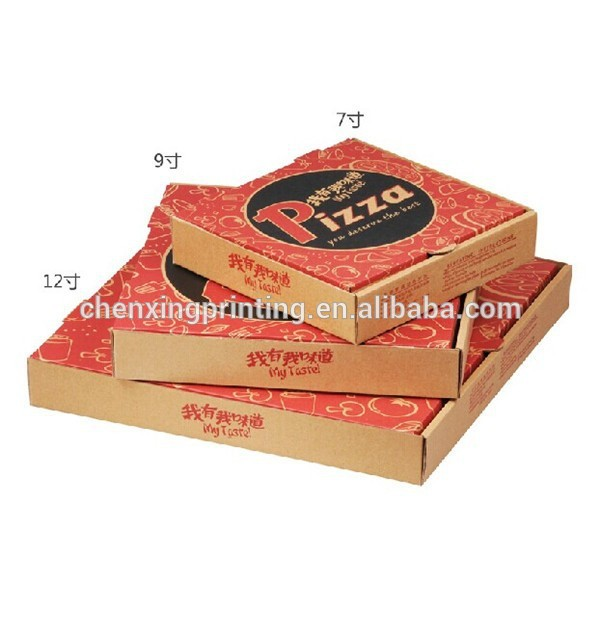 new style accept customized printing kraft pizza paper box