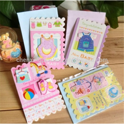 Customized New Born Baby Greeting Cards Cheap Price