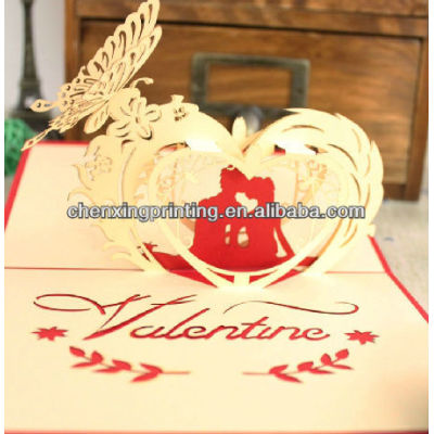 Sweety 3D Folding Valentine Day Love Cards