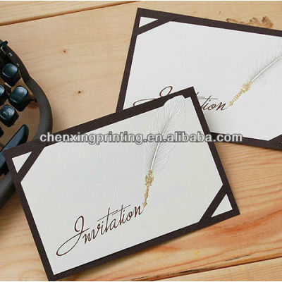 Customized Folded Business Invitation Card with Factory Price