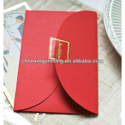 Folding Chinese Style Wedding Invitation Card with Factory Price